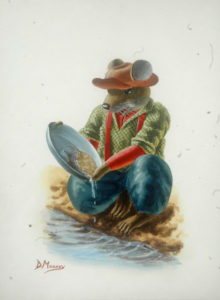 Prospector mouse panning for gold